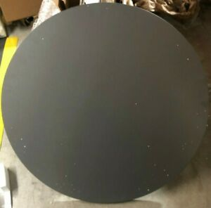Hon Between Round Table Tops 42 Dia Steel Mesh charcoal