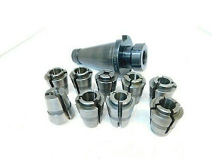 Lot 64 Used Balas Nmtb50 Balas Collet Chuck Holder With 9pcs Collets