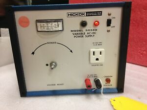Hickock 5058b Metered Variable Ac 0 400v Dc Power Supply Tube Audio Amp ma26