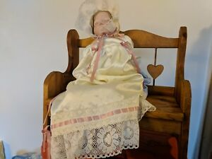 Handmade Doll Bench Seat Chair Primitive Farmhouse Beauty Country Hearthside