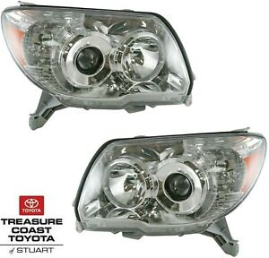 New Oem 2006 2009 Toyota 4runner Front Headlights Right Left 2 Pc Set