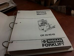 Nissan Forklift Service Manual Or 35 40 45