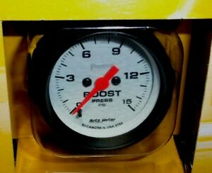 Autometer 5750 Phantom Electric Stepper Boost Gauge 0 15psi Turbo Diesel Blower