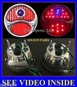 12v Model A Led Blue Dot Taillights With Spikes Ford 1928 1929 1930 1931 12 Volt