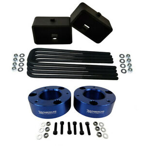 3 Front 3 Rear Full Lift Leveling Kit 07 Chevy Silverado Sierra 1500 Blue