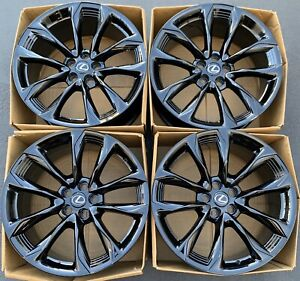 21 Lexus Lc500 Oem Forged Rims Wheels Gloss Black Staggered 2017 2018 Sensors