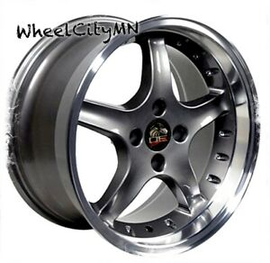 17 X9 Inch Anthracite Ford Mustang Cobra R Oe Replica Wheels 4x108 4x4 25 20