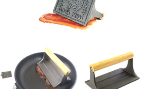 Norpro Cast Iron Bacon Press with Wood Handle $12.12