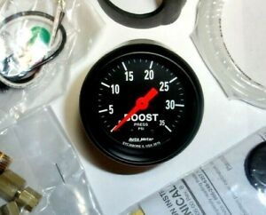 Autometer Z Series 2 1 16 Mechanical Boost Gauge 0 35 Psi Turbo Diesel Blower