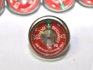 Lot Of 6 195 Pressure Gauge For Portable Dry Chemical Fire Extinguisher New
