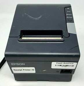 Epson Tm t88v Thermal Receipt Printer Model M244a With Cords Ethernet
