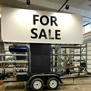 Mobile Billboard Trailer Advertising vinyl Signs 6 Ft X 15 Ft