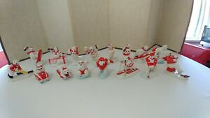 Vintage 1995 Coca-Cola Polar Bear Porcelain Figurines Lot of 16 Sports Theme!