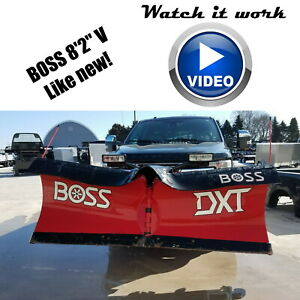 Used Boss Dxt Power V plow Snowplow Wiring Mount Controller Led Lights Up213