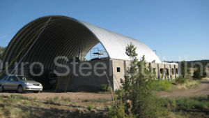 Durospan Steel 40x60x16 Metal Quonset Barn Building Kit Open Ends Factory Direct