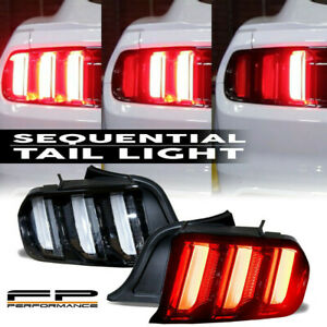 For 2015 2020 Ford Mustang Euro Style Led Tail Lights W Sequential Turn Signals