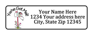 You ve Got Mail Personalized Return Address Labels 1 2 In By 1 3 4 In