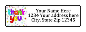 Thank You Swirls Personalized Return Address Labels 1 2 In By 1 3 4 In