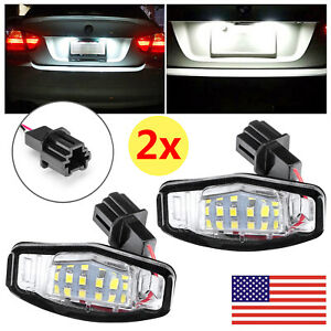 6000k Led License Plate Light For Acura Tl Tsx Mdx Honda Civic Accord Error Free