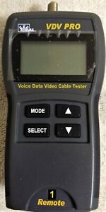 Cable Tester For Voice data video Vdv Pro W 1 Remote And Terminator