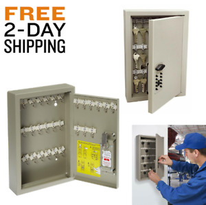 Wall Mounted Combination Key Safe Office Box Mountable Garage Secure Keys Gym