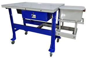 Ideal Steel Top Tear down Table W 3 5 Gallon Parts Washer Ptdt pw 1000 Free Ship