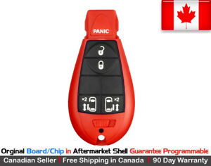 1x Oem New Replacement Keyless Entry Key Fob For Chrysler Dodge Caravan Red