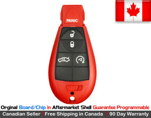 1x Oem New Replacement Keyless Entry Remote Red Key Fob For Chrysler Dodge