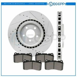 For 2007 2013 Ford Mustang Gt Shelby Gt 500 Front Brake Rotors And Metallic Pads