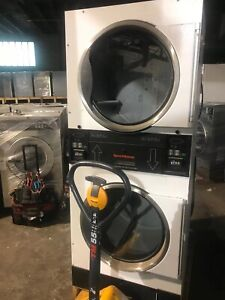 Speed Queen Stt30n Stack Dryer 30lb Card 120v Gas Sell As Is