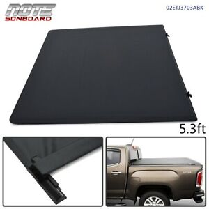 For 2005 2011 Dodge Dakota Crew Cab 5 3ft Bed Bed Soft Roll Up Tonneau Cover