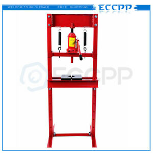 Eccpp Hydraulic Shop Press 12 ton Bench Top Mount With Plates H Frame Jack Stand
