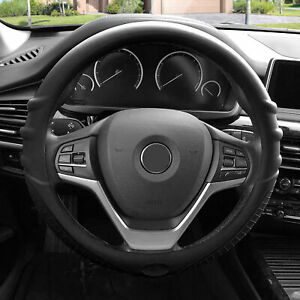 Black Steering Wheel Cover Silicone For Auto Car Suv Universal Fitment