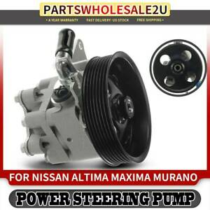 Power Steering Pump Pulley For Nissan Altima 2007 2012 Murano Maxima V6 3 5l