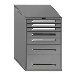 Equipto 4414 01 gy Mod Drawer Cabinet W Divider 30 gy