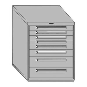 Equipto 443038 512 01 gn Mod Drawer Cabinet W Divider 30 gn
