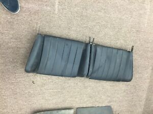 Porsche 356 Rear Seat Backs Black