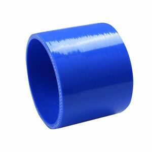 3 5 4 Ply Straight Turbo Intake Intercooler Piping Silicone Coupler Hose Blue