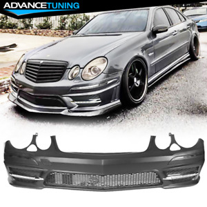 Fits 07 09 Mercedes Benz E Class W211 Amg Style Front Bumper Cover Led Drl