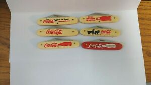 LOT 6 DIF.  COCA COLA  NOVELTY KNIFE BY FROST NEW