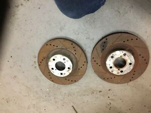 2004 04 Wrx Subaru Front Rotors Drilled Vented Slotted Set