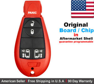 1x Oem Replacement Keyless Entry Remote Key Fob For Chrysler Dodge Caravan Red