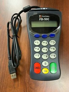 First Data Fd 100 Terminal Credit Card Machine With Fd 10c Keypad Only New New