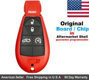 2x Oem Replacement Keyless Entry Remote Key Fob For Dodge Chrysler Red