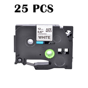 25pk Black Print On White Compatible With Brother Tze 231 Tz231 Label Tape 0 47