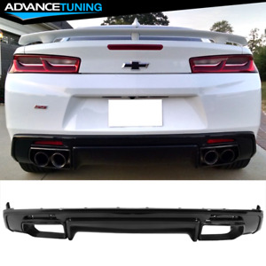 Fits 16 18 Chevy Camaro Oe Factory Style Rear Lip Diffuser Lower Spoiler Cover
