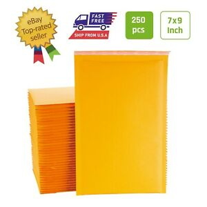 0 240 Pcs 6x9 Inches Kraft Bubble Mailers Padded Envelopes With Peel And Seal