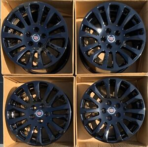 18 Cadillac Cts Coupe Factory Wheels Oem Gloss Black 4669 4673 Staggered