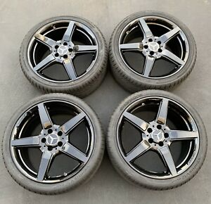19 Mercedes Benz Cls550 Amg Factory Oem Wheels Rims Tires Black 85255 85256