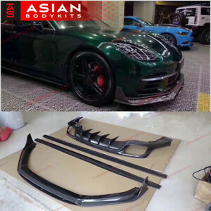 Carbon Body Kit For Porsche Panamera 971 2017 Front Lip Side Skirts Diffuser